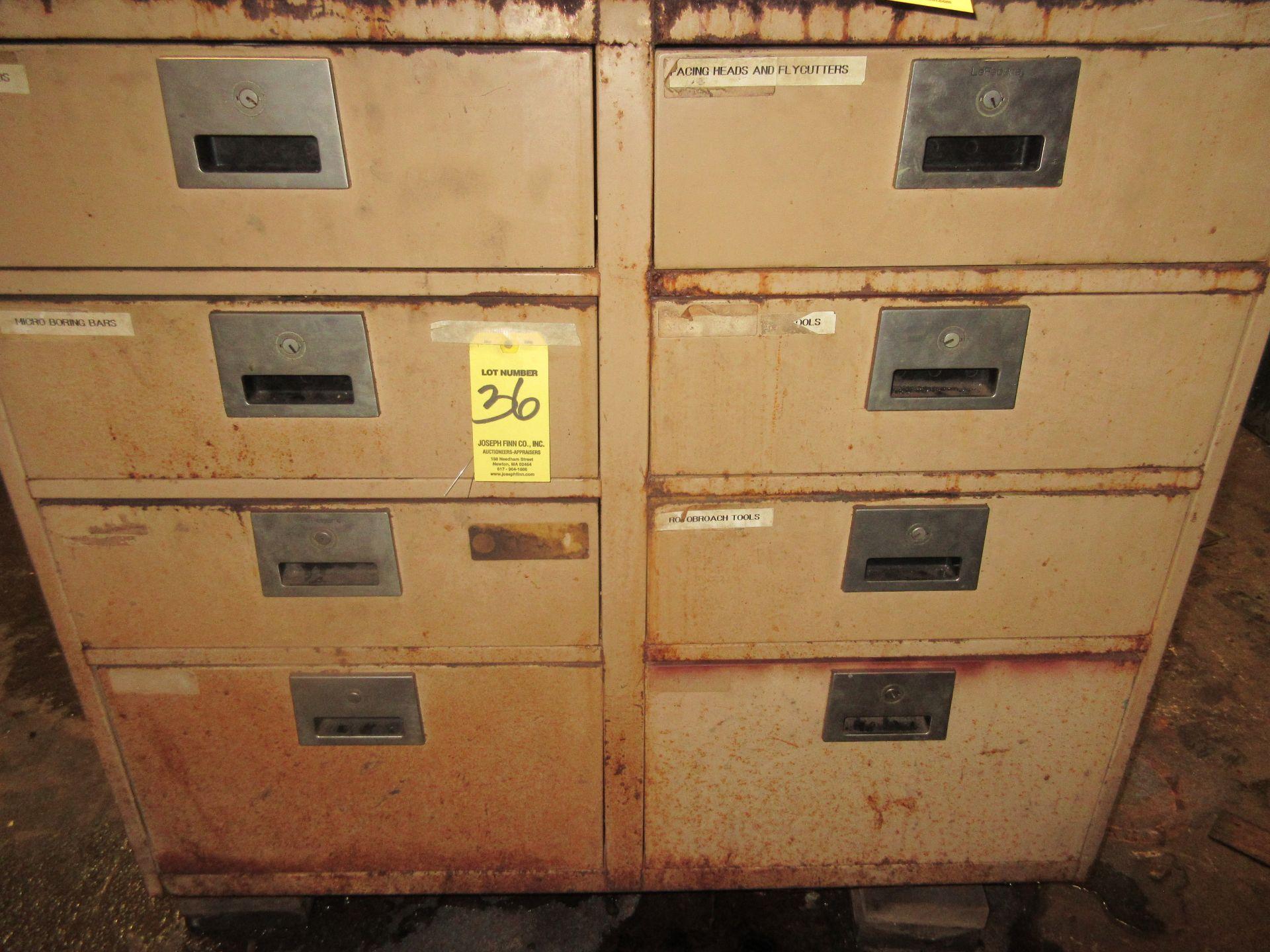 (1) 8-Drawer Metal Cabinet w/ Hardware
