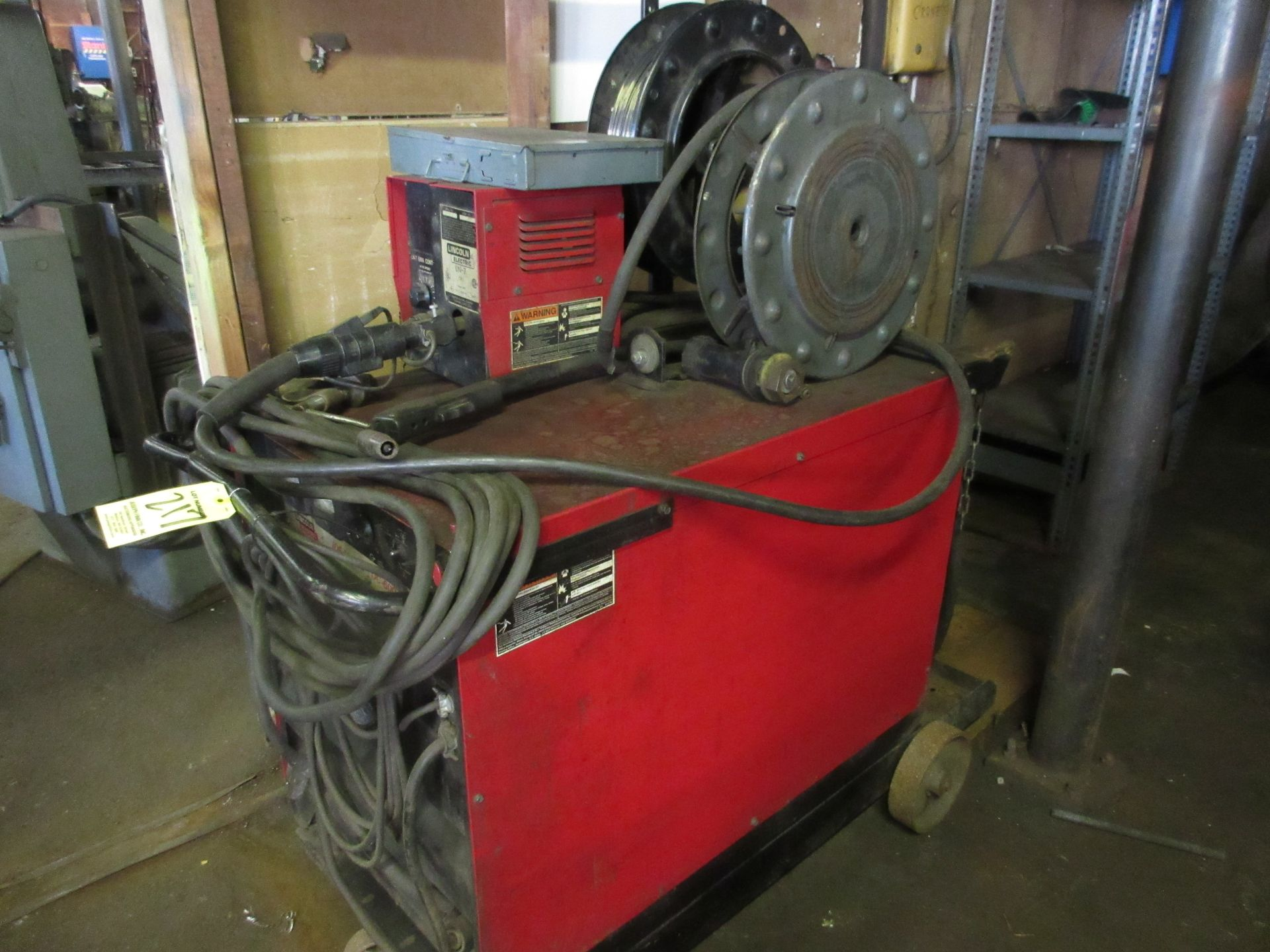 (1) Lincoln Idealarc DC-60 Arc Welder, 230V, Lincoln LN-7 Wire Feed - Image 3 of 4