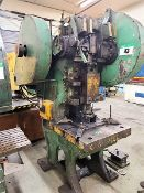PUNCH PRESS - TAYLOR AND CHALLEN 60 TON PUNCH PRESS, MOD. B 3 1/2, 60 TON, 30 X 32 BOLSTER PLATE,