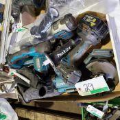 PARTS BOX OF ASST'D CORDLESS TOOLS