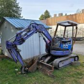 EXCAVATOR - KOMATSU PC28UU, 1/4 YD. TRENCH BUCKET, SIDE BOOM SHIFT, ENGINE MOD. 3D82AE-3D, 6403 HRS.