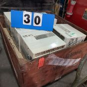 WOOD TOTE OF 9 AIR CONDITIONERS - COMFORT AIR ETC.