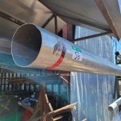 """2 TIERS ALUM PIPE/ALUM TUBE 5 X .074,2@180"""", 2@179"""",96"""", 180""""=82.83'/ALUM TUBE 5 X .074=40'/"""