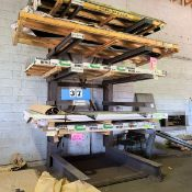 6 TIER CANTILEVER STEEL STORAGE RACK - MAX - 3000LB PER TIER (DOES NOT INCLUDE INVENTORY