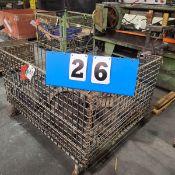 WIRE TOTE W/2 MOTORS 7.5HP/230/460/3PH, 1HP/115/230/1PH; STEEL CASTERS