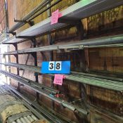 6 TIER/3 UPRIGHT CANTILEVER STEEL STORAGE RACK (DOES NOT INCLUDE INVENTORY)