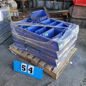 PALLET OF PLASTIC PARTS BOXES
