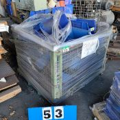 WIRE TOTE & CONTENTS OF PLASTIC PARTS BOXES