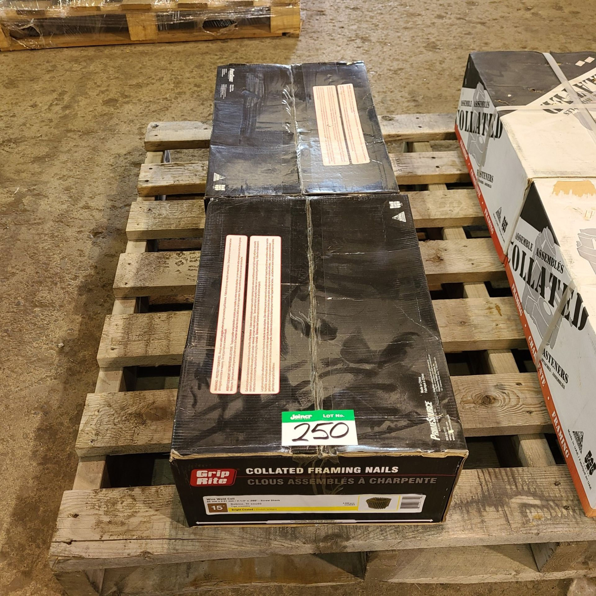 2 BOXES OF GRIP RITE COLLATED FRAMING NAILS 65M X 2.51MM SCREWSHANK
