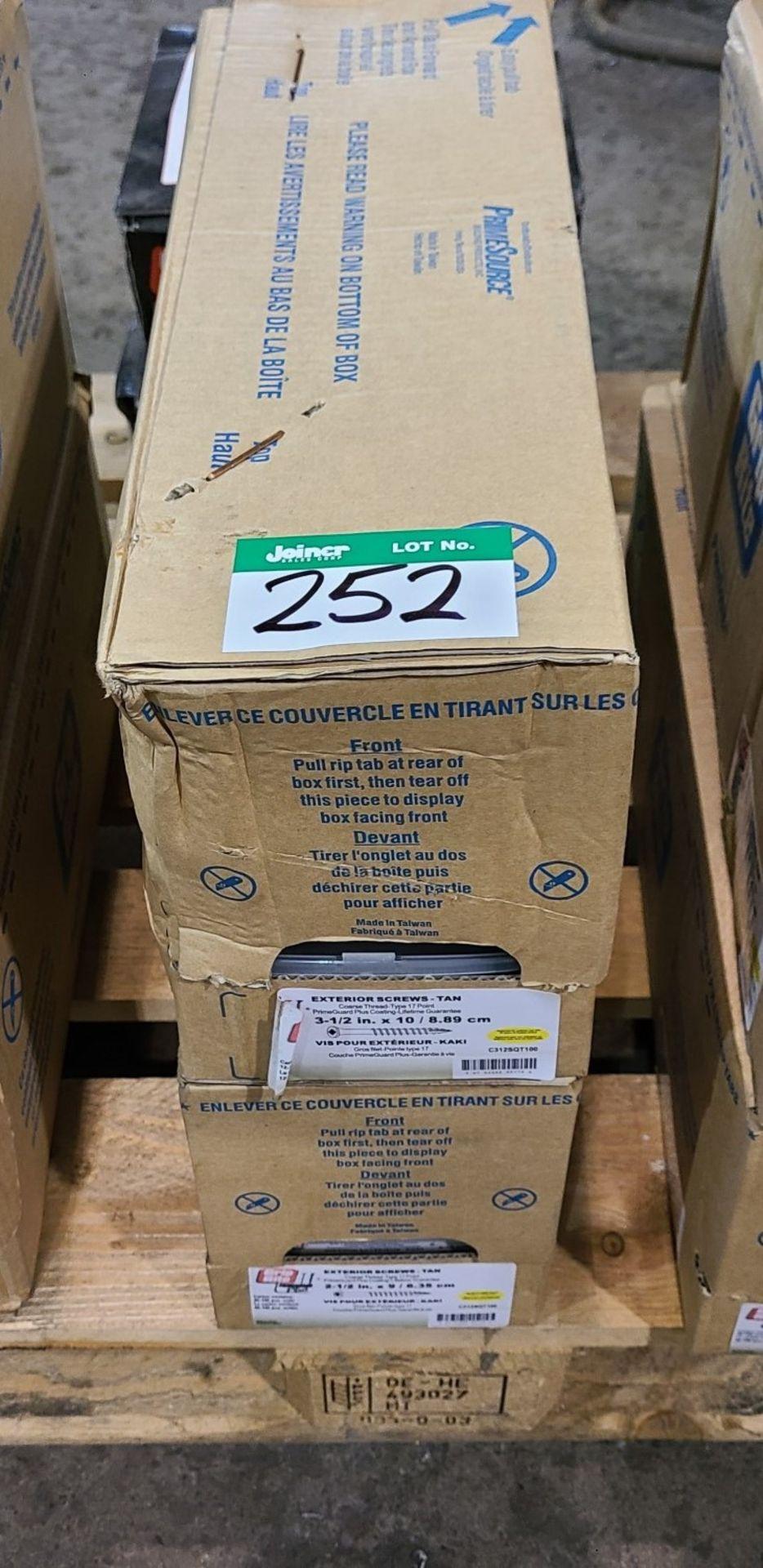 2 BOXES OF PRIME SOURCE EXTERIOR SCREWS - TAN