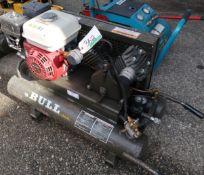 ROL-AIR THE BULL PORTABLE AIR COMPRESSOR, MOD. FCH490H W/HONDA GX160 5.5HP ENGINE
