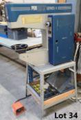 PEMSERTER SERIES 4 INSERTING MACHINE S/N J4-2524 C/W STAND, 2 TRAYS OF INSERTS