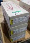 4 BOXES SUMY 4.0 MM X 450 MM ELECTRODES - 44 LB./BOX