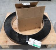 ROLL OF STEEL STRAPPING, BOX OF CLIPS