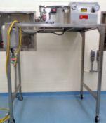 Frewitt SS Granulator, Model MF8-J-1-4503, portable, SS