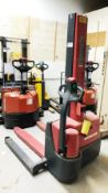 Raymond Walk Behind Straddle Electric Forklift, Model 6MB, S/N 66639
