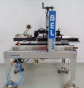 Wexxar BEL Fully Automatic Case Sealer, Model BEL 252, S/N 150974.