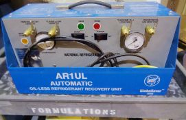 NRP GlobeSaver Series Automatic Oil less Refrigerant Recovery Unit, Model AR1UL
