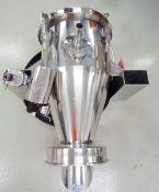 Vac-U-Max Stainless Steel Receiver with Vac-U-Max Powder Transfer Vacuum Producing