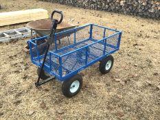 Blue Garden Cart