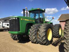 1997 John Deere 9300 4wd Tractor 710 70R/38 Duals, Rear Weights, 4-Hyd, 24 Spd Power Sync Trans, 699