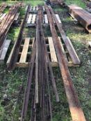 Qty of misc Rebar & Flat Iron