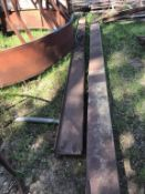 1pc 10in X 2.5in X 1/4in X 17Ft Channel Iron