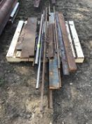 Pallet of Misc Flat Iron Steel & more