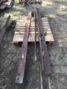 1pc 6in X 3/4in X 9Ft Angle Iron & Grader Blade