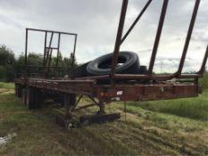 B-Train Round-Bale Bale-Hauler Trailer Sprin Ride Susp, 11R24.5 Tires