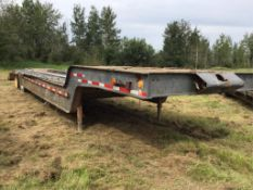1976 Willock Low Boy Trailer VIN AT406 42Ft Long, 9Ft Wide