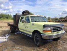 1994 F450 Ford Crew Cab Dually Deck Truck VIN 1FDLF47G1REA24213 V8 460 Eng, A/T, 164,884km