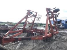29Ft Case 1900 Deep Tillage Cultivator 12in spacing, Mounted Harrows