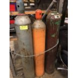 Set of torch tanks