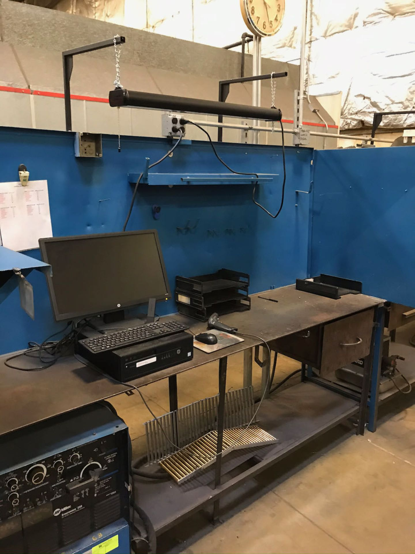 Miller Syncrowave 250 welder with working station - Image 2 of 2