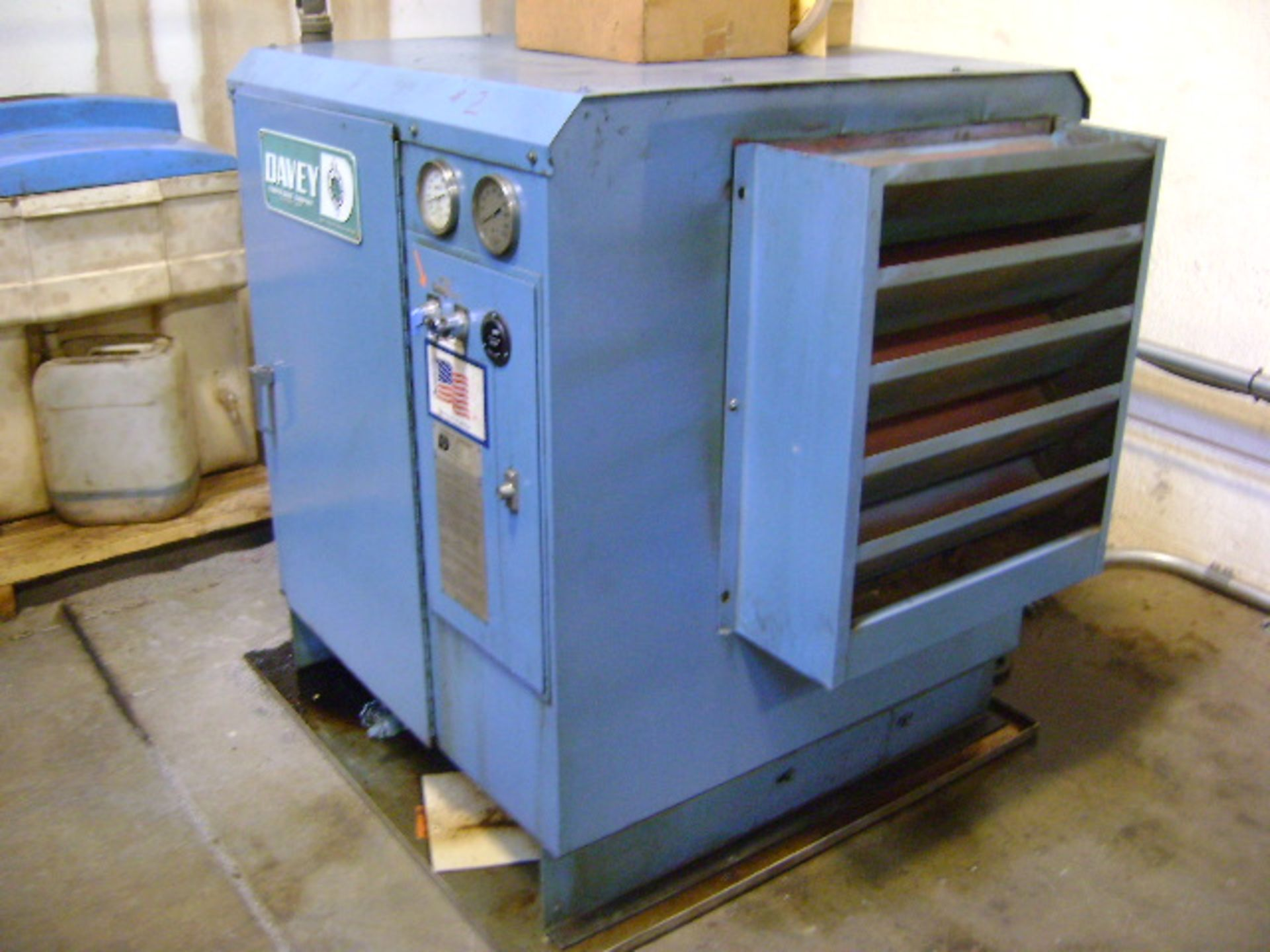 Davey Rotary Screw Air Compressor & Airtek Model 408Q Aftercooler