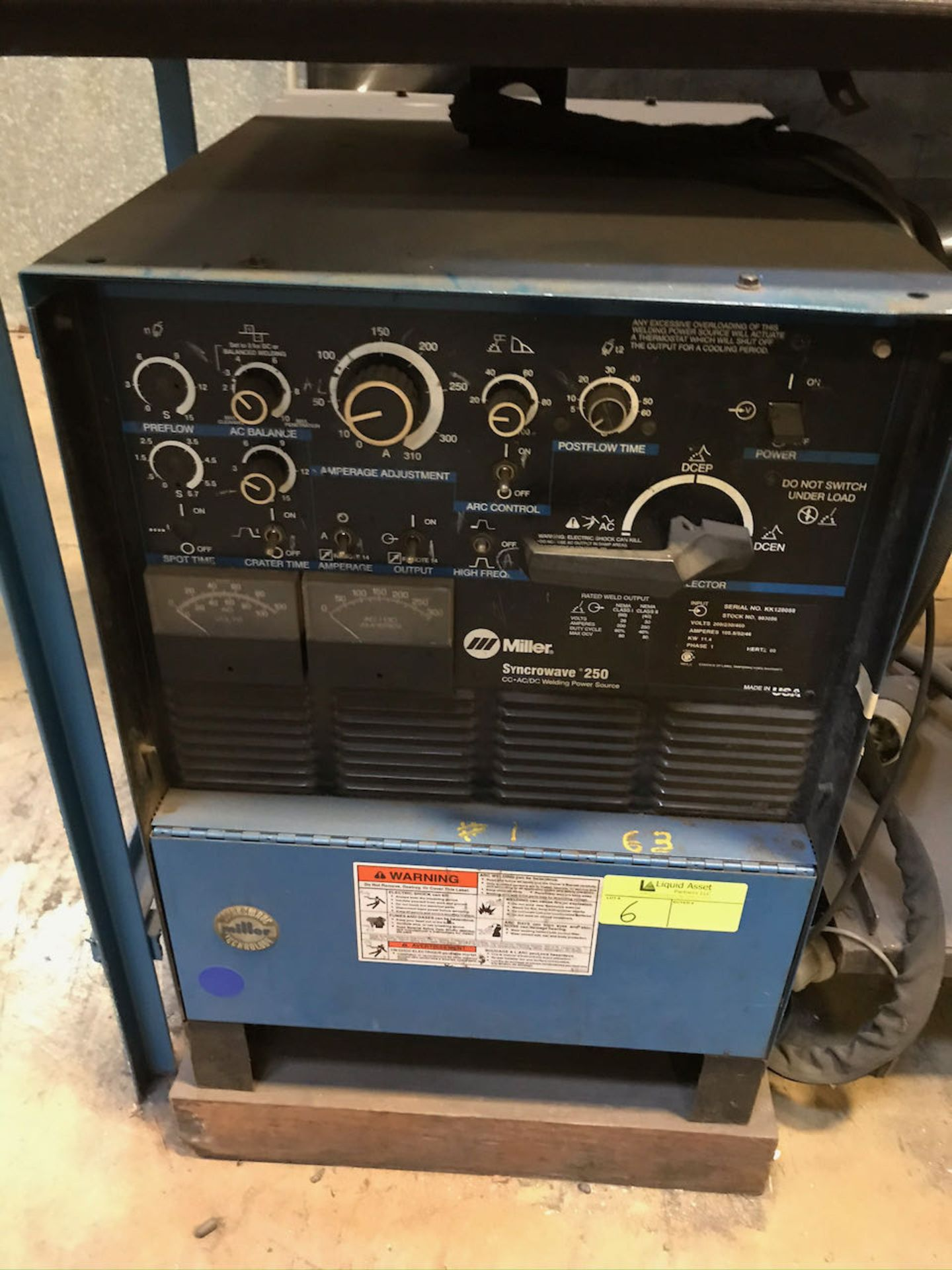 Miller Syncrowave 250 welder with working station
