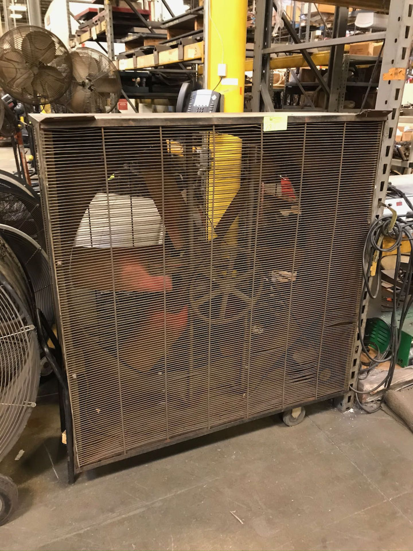 Large square industrial fan