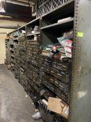 Cabinets w/ parts, equipment, etc.