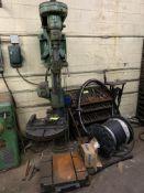 Drill Press w/ bits