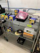 Rack with Misc tools, HAKKO Future Module (3) FM-102 & (5) FM-202