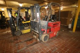 Raymond 5,000 lbs. Sit-Down Electric Forklift, M/N 470-06-HM00006, with 3-Stage Mast with Side