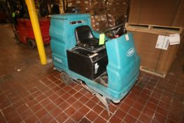 Tennant Sit-Down Electric Floor Scrubber, M/N 7100, S/N 7100-10367336, with 36 Volt Battery (LOCATED