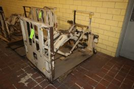 Cascade Hydraulic Slip Sheet & Push Forklift Attachment, Cat. No. 45E-PPS-394 R-O, S/N 425904-2,
