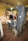 Crown Sit-Down Electric Forklift, with 4-Stage Mast with Side Shift (NOTE: Missing Forks &