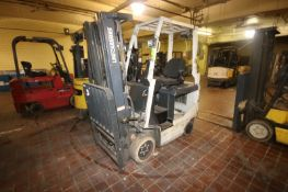 Uni-Carriers 2,250 lbs. Electric Sit-Down Forklift, M/N MCJ1B1L18S, Chassis No. CJ1B1-991068, with