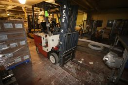 Nissan Sit-Down Electric Forklift, Type ES, S/N D766051, with 3-Stage Mast with Side Shift, with