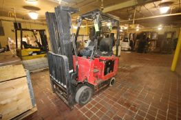 Nissan 4,750 lbs. Sit-Down Electric Forklift, M/N CSP01-9A5166, with Douglas Legacy Rapid Charge
