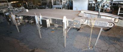 """Garvey 10 ft L x 53"""" W x 39"""" H S/S Conveyor"""