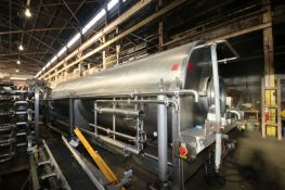 Lyco S/S Blancher, Overall Dims.: Aprox. 25' L x 8' W, with (2) Heat Actuator Valves, Mounted on S/S